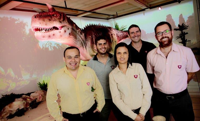 Dinosaurios se apoderaron de la Galería Nacional