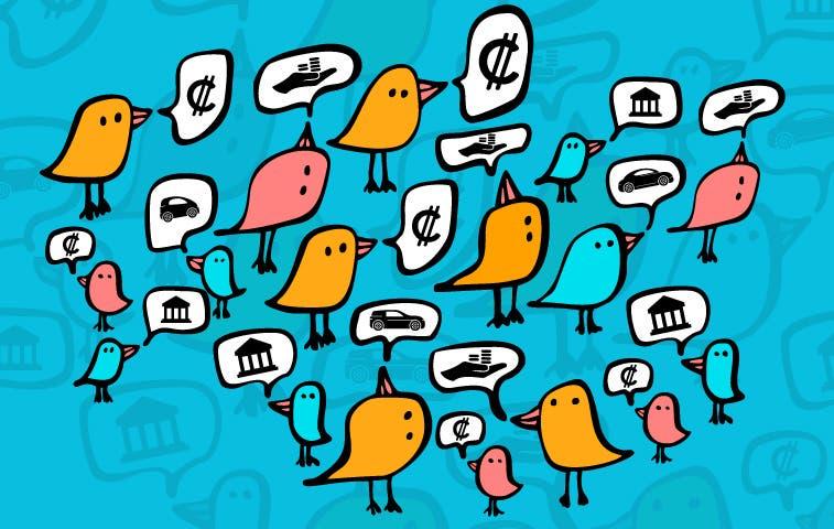 Twitter es campo minado para los bancos