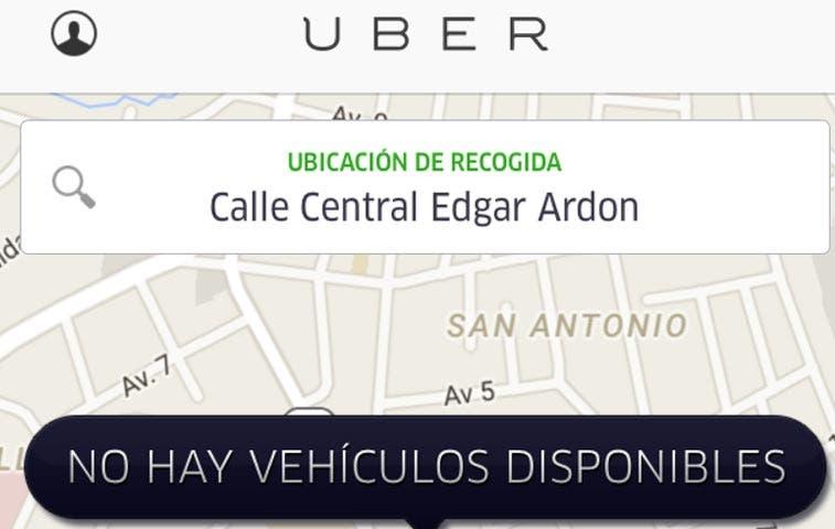 Saturación del servicio de Uber no preocupa a sus representantes