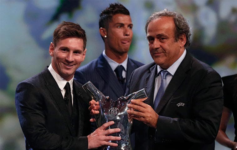 Messi coronado mejor jugador de Europa