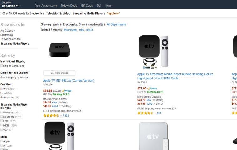 Amazon ya no venderá Apple TV y Chromecast