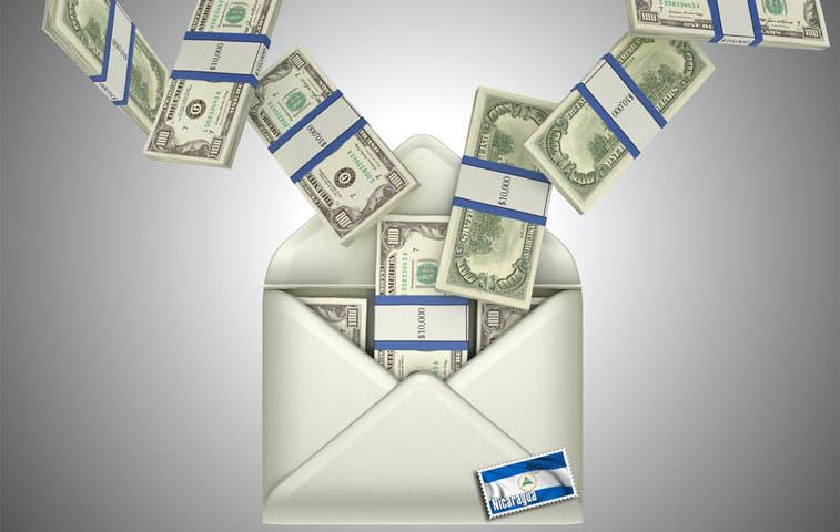 Envío de dinero a Nicaragua aumenta un 10%