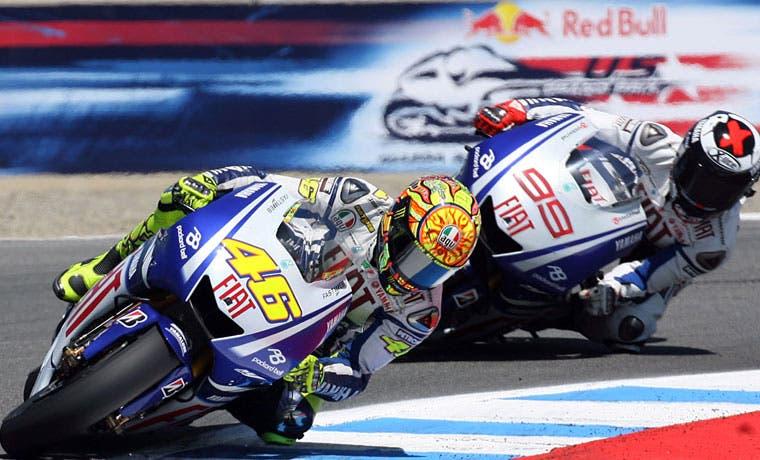 Nueva batalla entre Rossi y Lorenzo