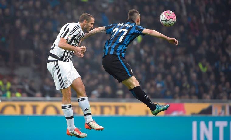 En blanco Inter-Juve