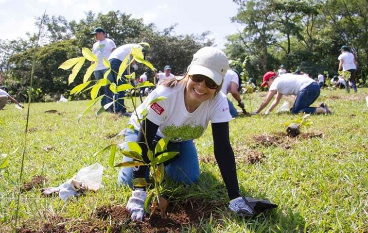 Voluntarios de Coca Cola siembran mil árboles en Ciudad Colón