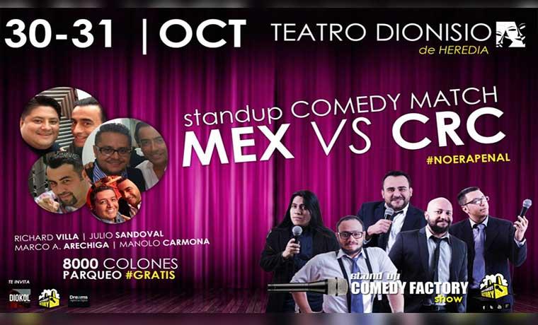 Humoristas mexicanos y ticos se enfrentan