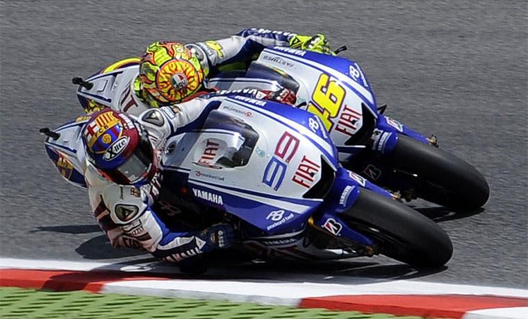 Rossi y Lorenzo, último mano a mano