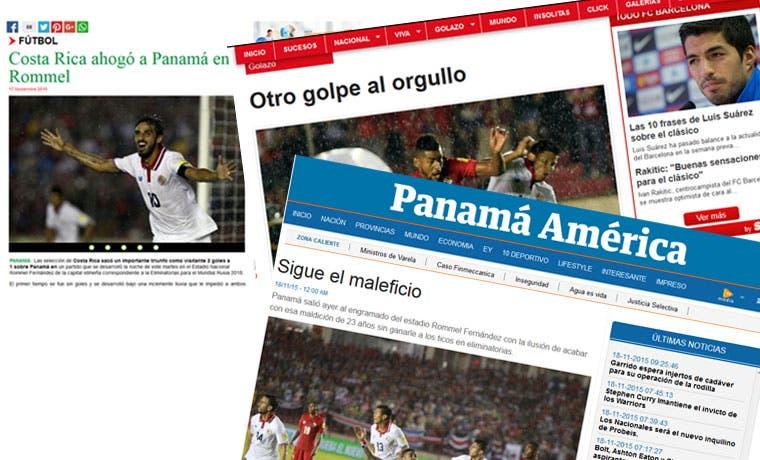Desilusión en medios panameños por la derrota