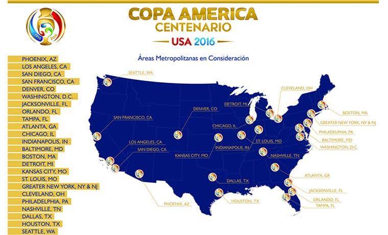 Diez sedes para la Copa Centenario