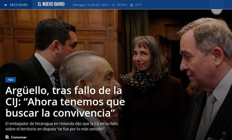 Prensa nica resalta derrota de su país en La Haya