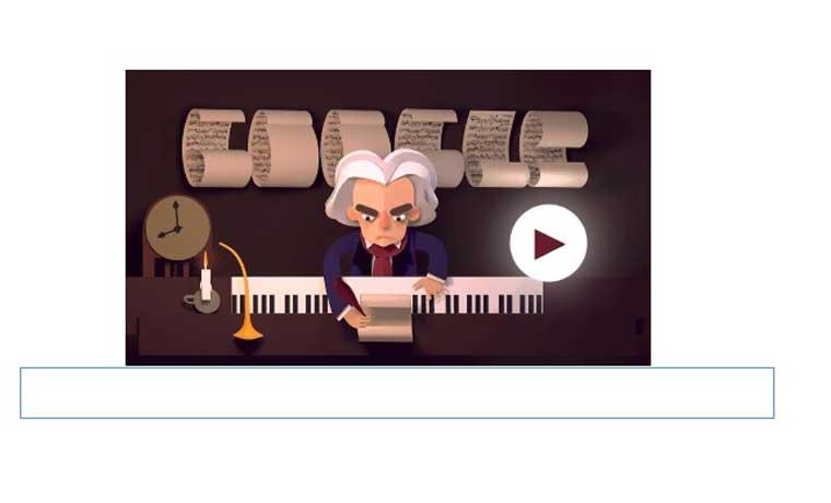 Google rinde homenaje a Beethoven en un doodle interactivo