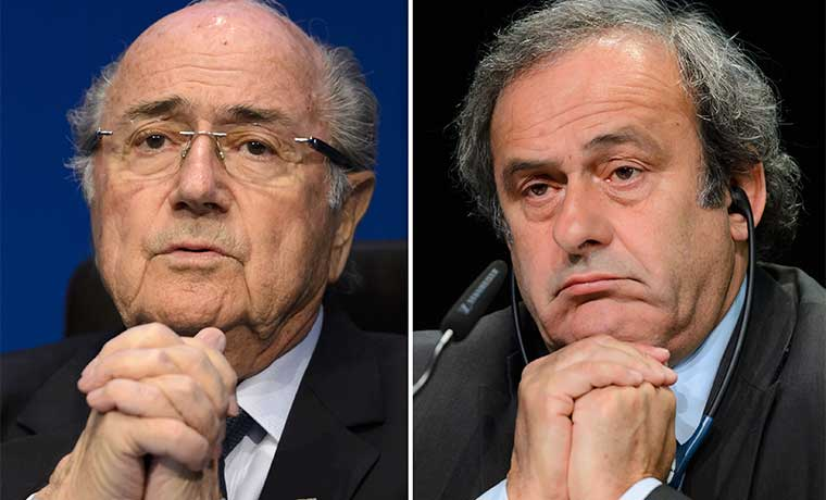 Roja para Blatter y Platini