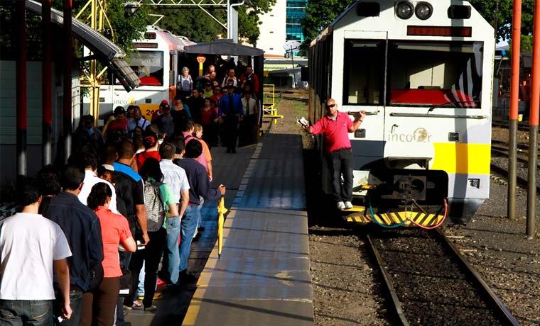 Tren llegará a San Joaquín de Flores a partir de mañana