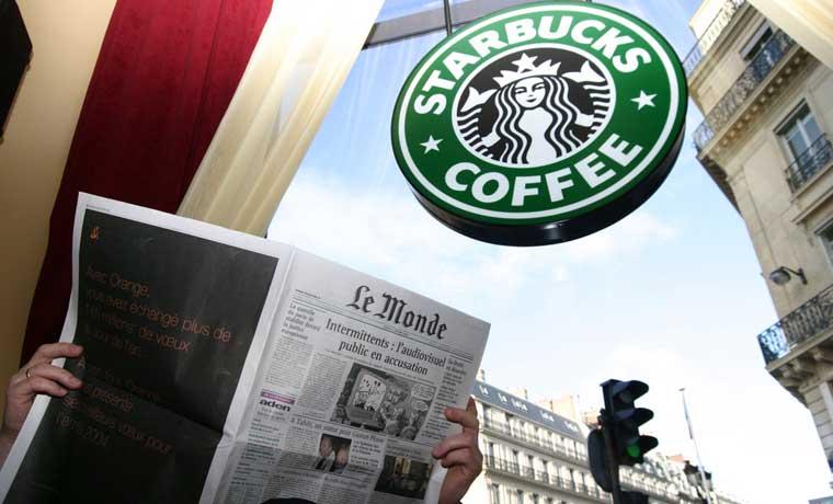 Starbucks culpa a los ataques en París de afectar ventas europeas