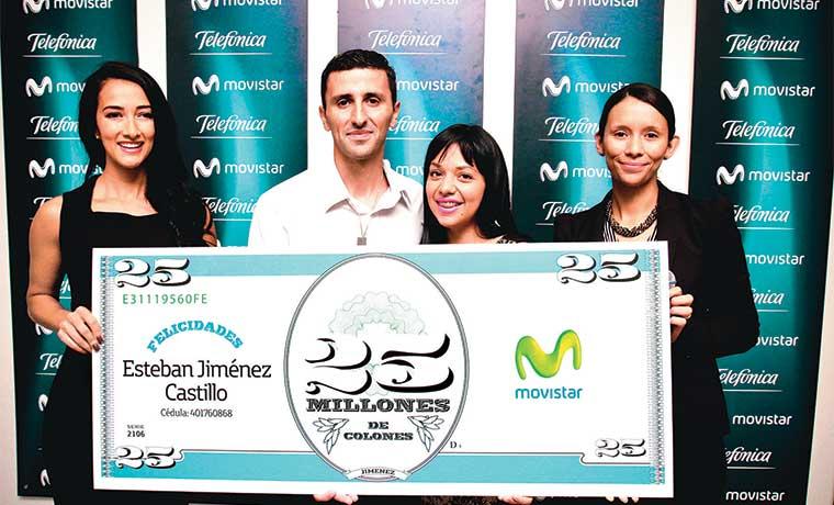Movistar premia fidelidad de cliente con ¢25 millones