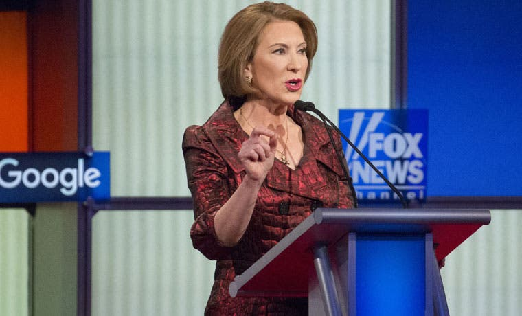 Carly Fiorina, candidata republicana, suspende campaña presidencial