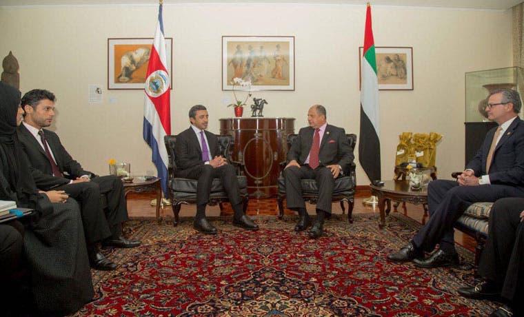 Costa Rica y Emiratos Árabes Unidos crean vínculos de cooperación