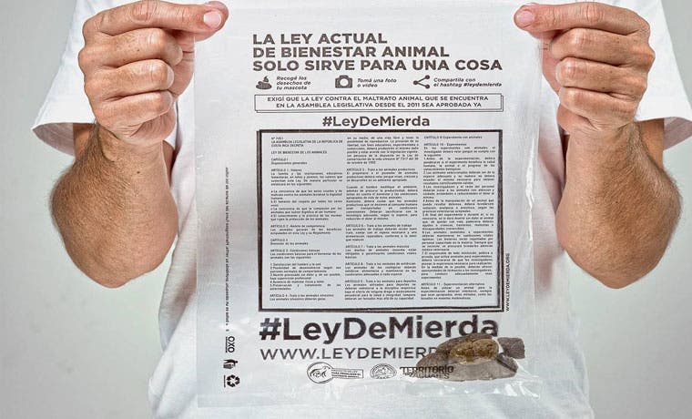 Campaña #Leydemierda exige que ley contra maltrato animal se apruebe