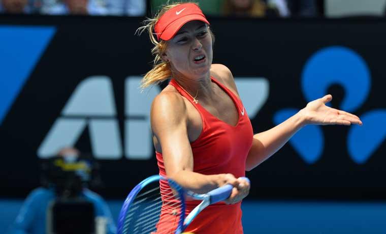Shaparova anuncia que dio positivo en el Abierto de Australia