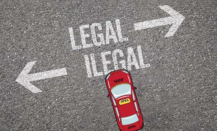 Taxis también son ilegales