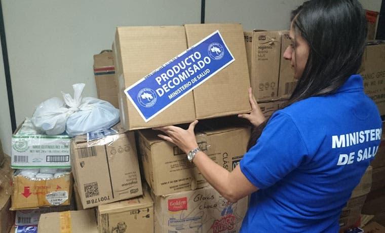 6.840 productos decomisados por incumplimiento de registro sanitario y etiquetado