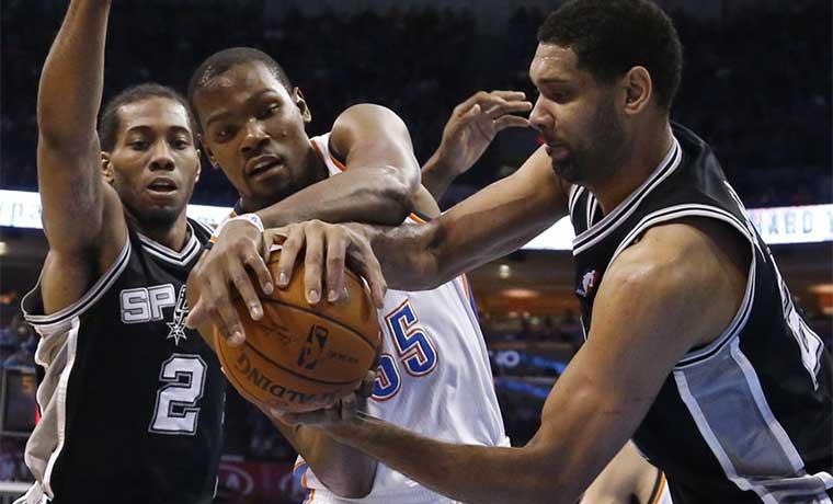 Thunder amenaza fortaleza de Spurs