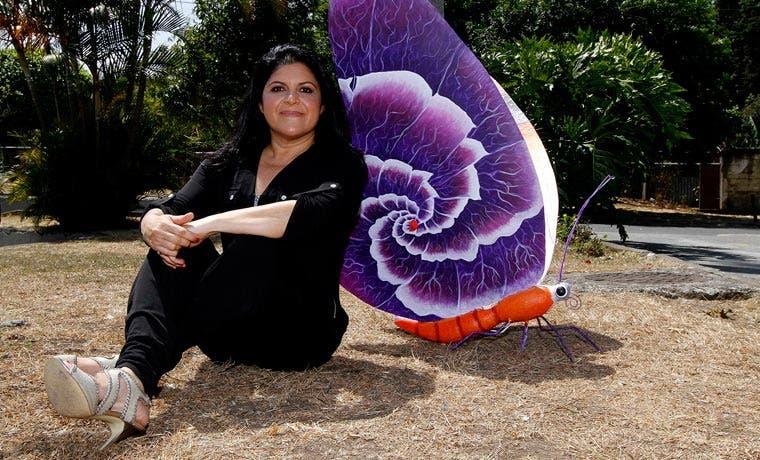Esculturas de mariposas embellecen San José