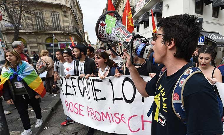 Manifestaciones en contra de reforma laboral en Francia