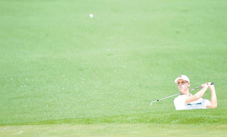 Golfista tico probó la dureza de Augusta
