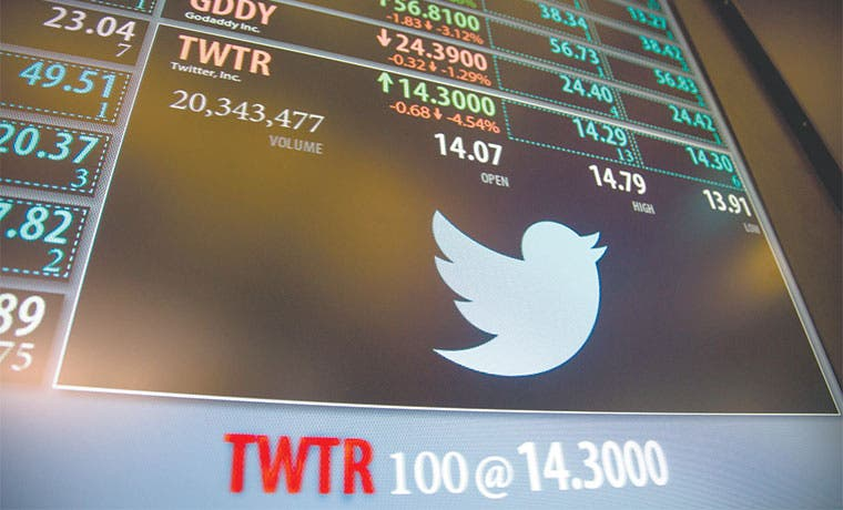 Perspectiva de Twitter es oscura por escasez de usuarios nuevos