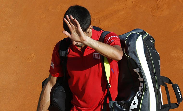 Amargo estreno de Djokovic