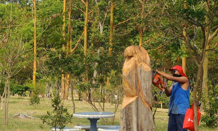 Esculturas en madera embellecerán La Sabana