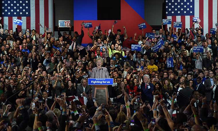 Victoria en Nueva York de Clinton y Trump