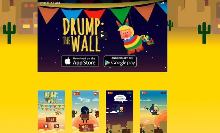 "Estudio tico crea ""Drump The Wall"", videojuego que critica a Donald Trump"
