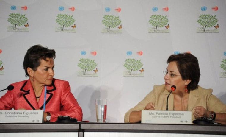 Patricia Espinosa sustituiría a Christiana Figueres en la ONU