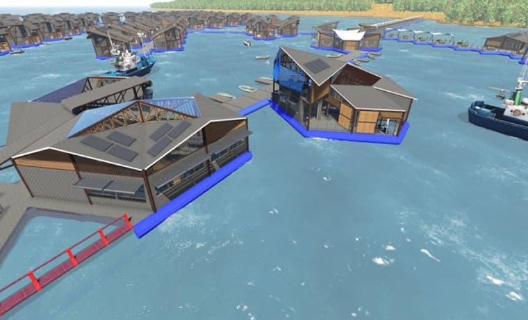 Edificios flotantes para pescadores, nueva opción habitacional