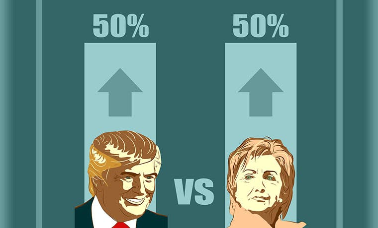 En materia de inversiones, Clinton es más conservadora que Trump