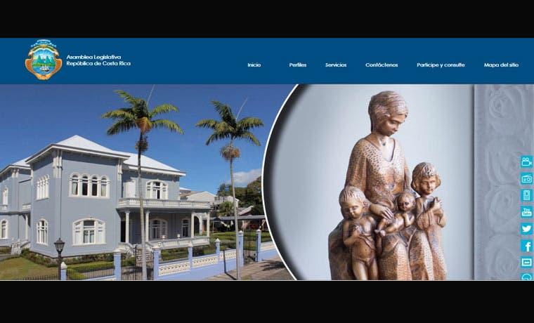 Asamblea Legislativa tendrá nuevo sitio web