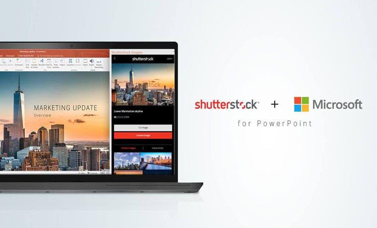 """Microsoft se une con Shutterstock para integrar """"plug in"""" de imágenes"""