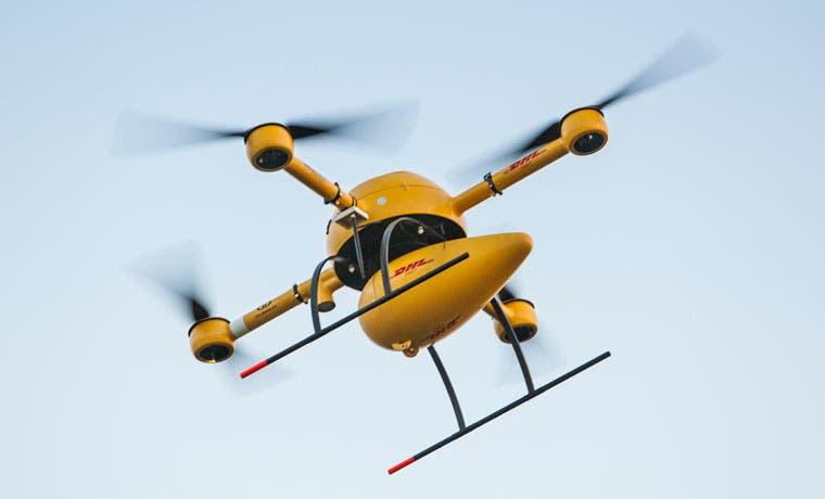 DHL realiza entregas con drones