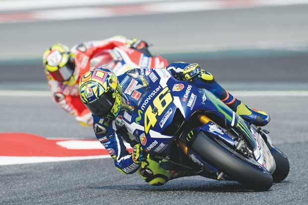 Rossi sonríe en España