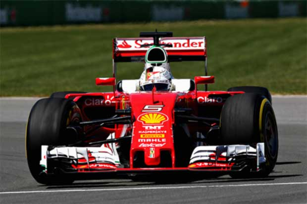 Vettel opacado por su Ferrari
