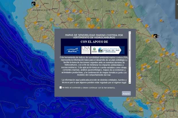 App permitirá identificar zonas sensibles ante derrame de petróleo