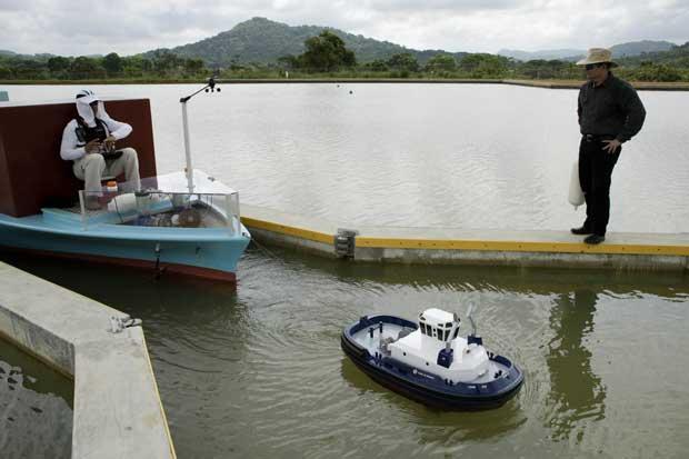 """Crean """"Mini canal de Panamá"""" para entrenar capitanes de barco"""