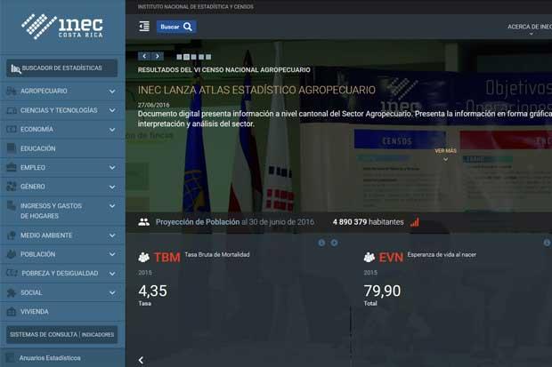 INEC lanzó nuevo sitio web
