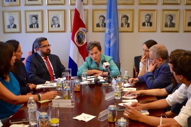 Christiana Figueres participó de foro sobre desarrollo sostenible en Nueva York