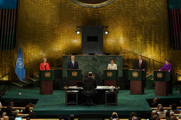 Christiana Figueres dentro de los favoritos en primer debate a la Secretaría General ONU