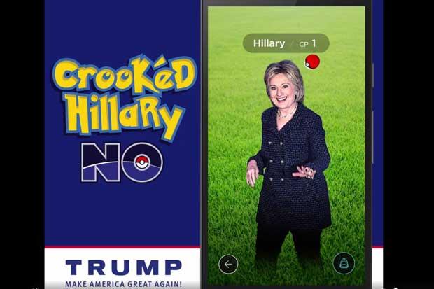 Donald Trump utiliza Pokémon Go para atacar a Hillary Clinton