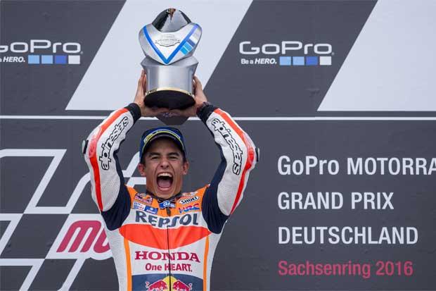 Márquez amplía su liderato en GP de Alemania