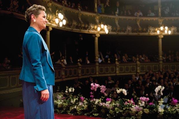 Christiana en segundo plano para Secretaría de ONU